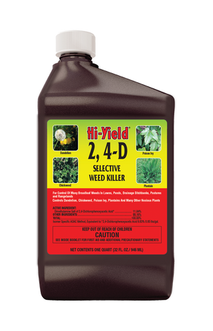 Hi-Yield® 2,4-D Selective Weed Killer (32 oz)