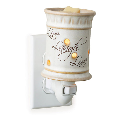 Candle Warmers Etc. Pluggable Fragrance Warmer, Live,Laugh,Love
