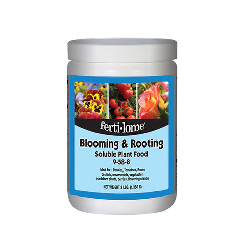 Fertilome Blooming and Rooting Soluble Plant Food 9-58-8 (3/sizes)