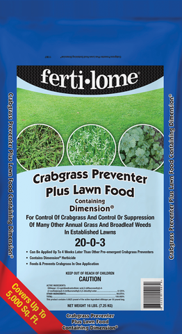 Crabgrass Preventer Plus Lawn Food w/ Dimension 20-0-3 (16lbs)