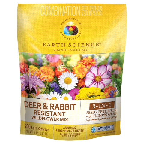 Earth Science_ Deer & Rabbit Resistant Wildflower Mix