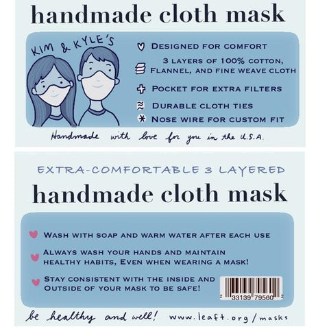 Kim & Kyle's Handmade Cloth Mask (Medium/Large)