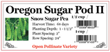 PBN Pea 'Sugar Snow Oregon Pod II'