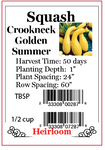 PBN Squash Crookneck 'Golden Summer'