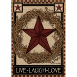 Carson_ Star Wreath Dura Soft™ Garden Flag