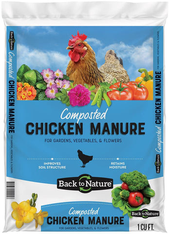 Back to Nature's -Composted Chicken Manure' 1 cu ft