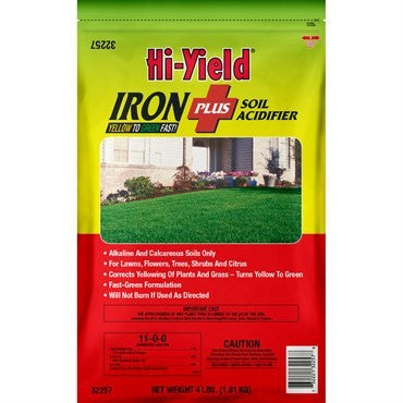 Hi-Yield® Iron Plus Soil Acidifier 11-0-0 (4 lbs)