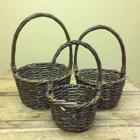 Vast America Round Willow Wire Reinforced 9 in basket
