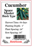 PBN Cucumber 'Space Master' - Bush Type