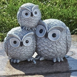 "Roman 7"" Stacked Owl Statue"