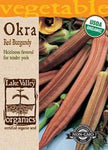 Organic Okra Red Burgundy Heirloom