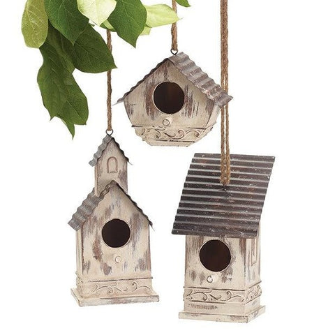 B&B_ Birdhouse Distressed Ivory