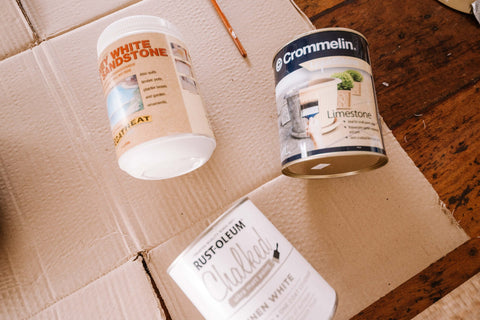 Terracotta Paint and White Ceramic Paint