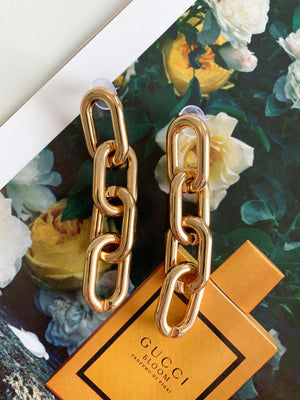 Chain Link earrings ☆ Gold