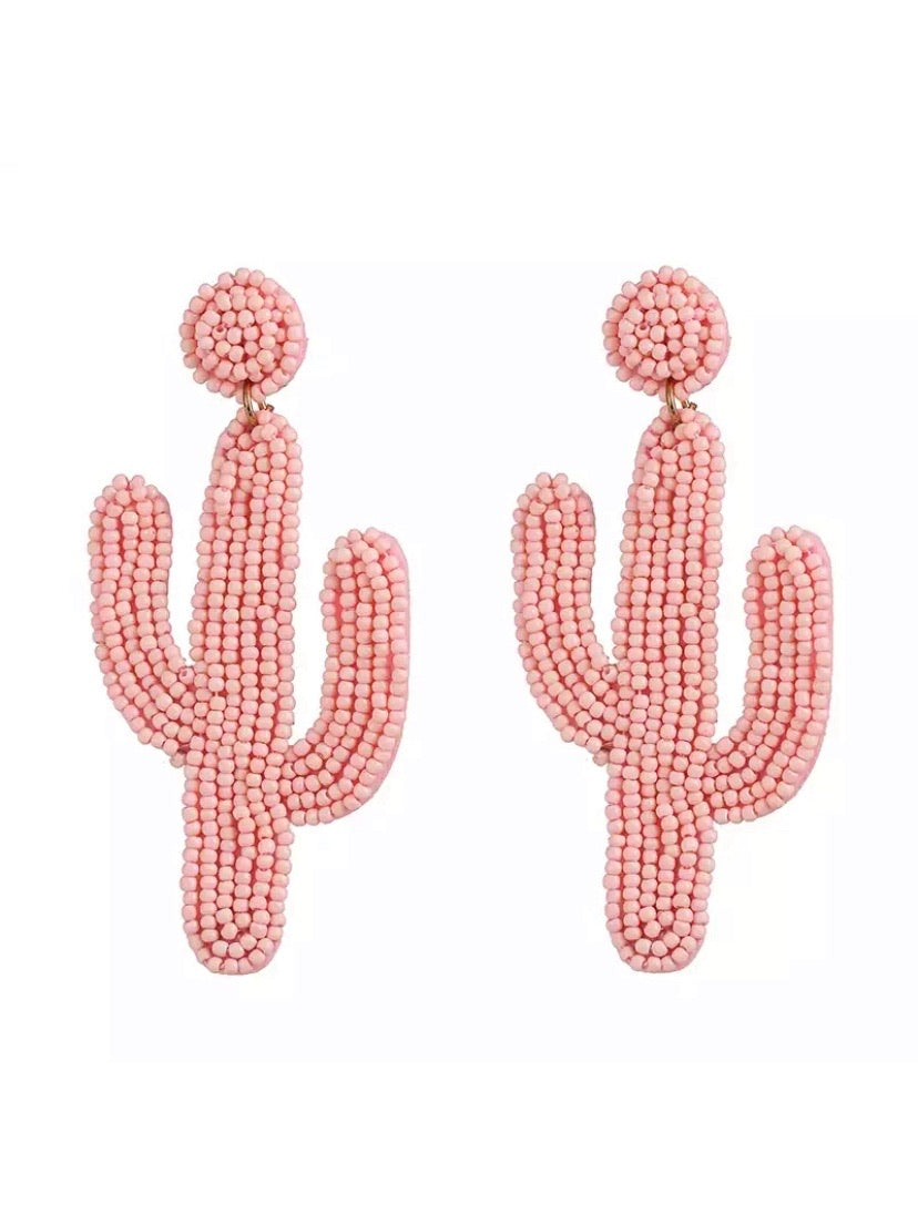 Cactus earrings ☆ Pink