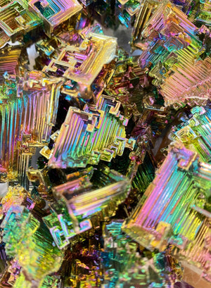 Natural Bismuth Tower / Approx. 1.5 - 2.5 inches / .07 - .2 kilo per piece / Assorted Shapes and Colors