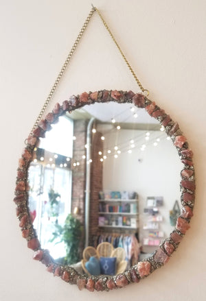 Crystal Rimmed Mirror