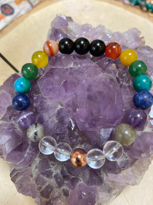 Genuine Chakra Balancing 8 MM Gem Bead Bracelet Christmas Gift Womens Bracelet Natural Gemstone Jewelry