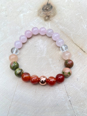 Fertility Bracelet 8MM Elastic Genuine Gem Bead Bracelet / Crystal Bracelet / Natural Gemstone Jewelry