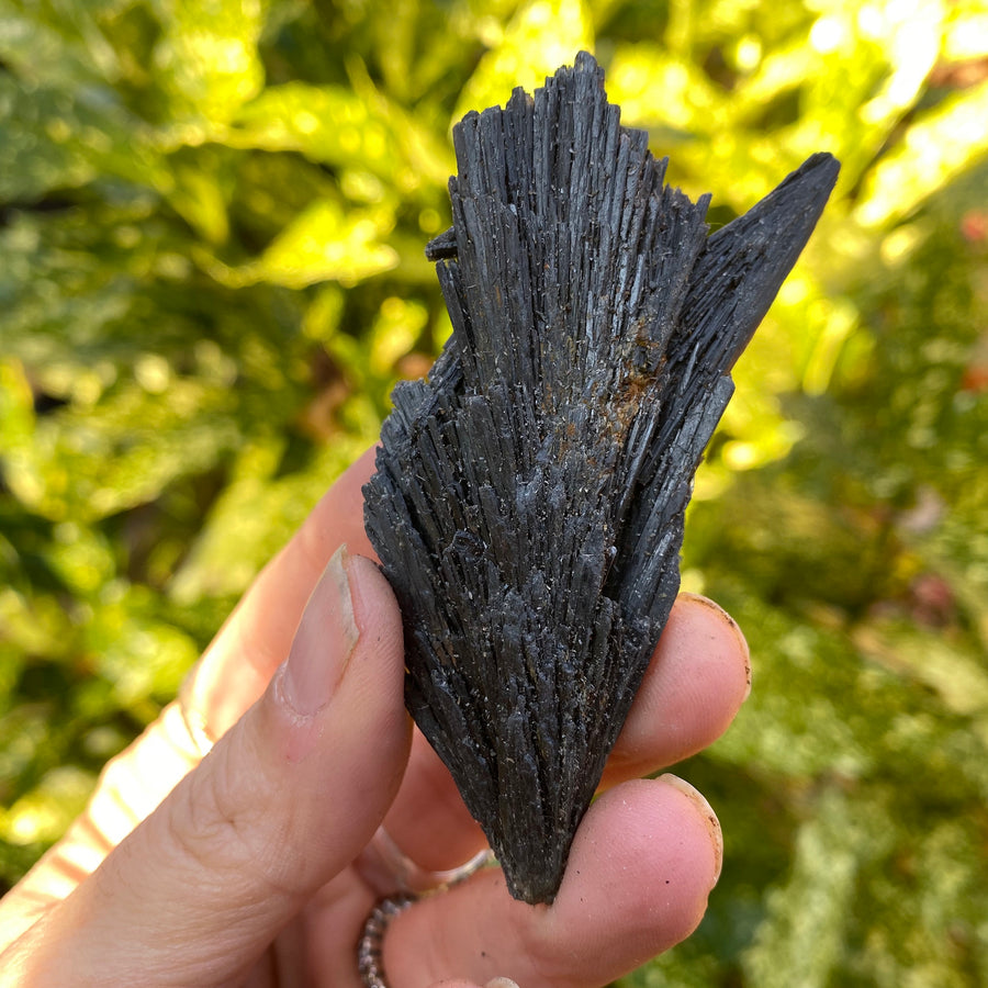 black kyanite - raw black kyanite - raw kyanite - kyanite - black kyanite blades - protection  - grounding stone