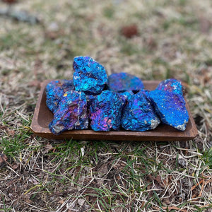 Chalcopyrite Peacock Ore Rainbow pyrite Raw Natural Mineral Specimen - Positivity Blessings and Joy