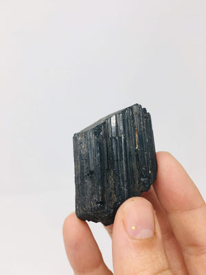 "Raw Black Tourmaline Crystal Rough Black Tourmaline natural Specimen Supports Protection Security  Boundaries 1-2"" in size"