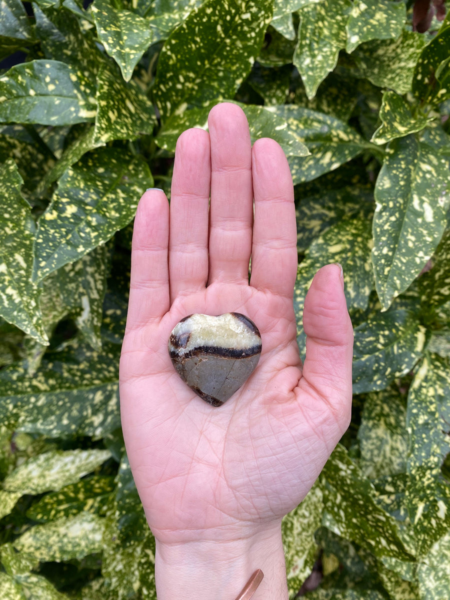 Septarian Dragon Polished Small Heart Shaped Natural Stone - Confidence Patience and Strength