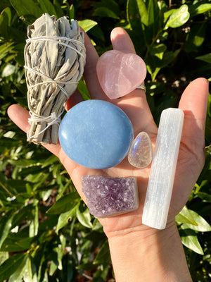 The Ultimate Mother's Day Crystal Bundle / calm/ inner peace/ unconditional love/ stress relief/ Mother's Day gift/ Crystals for mom