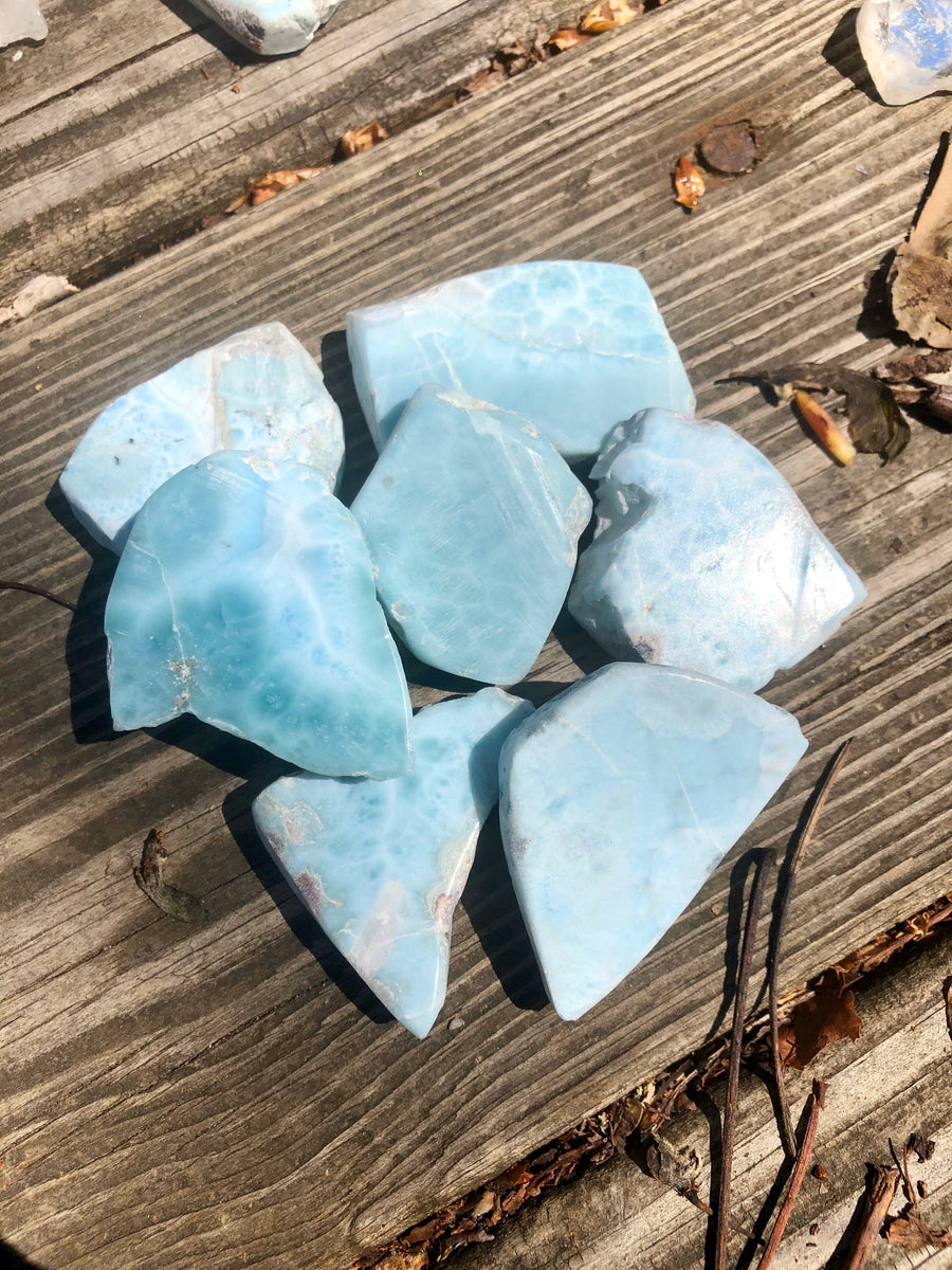 Beautiful Ocean Blue Larimar Slab