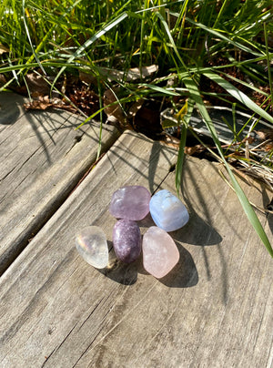 A Mother's Love Crystal Bundle to support mothers/ calm/ inner peace/ unconditional love/ stress relief/ Mother's Day gift/ tumbled stones// Also perfect for the Nurturing Human// The empath// The Giver