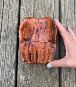 "6"" Wooden Hand Bowls"