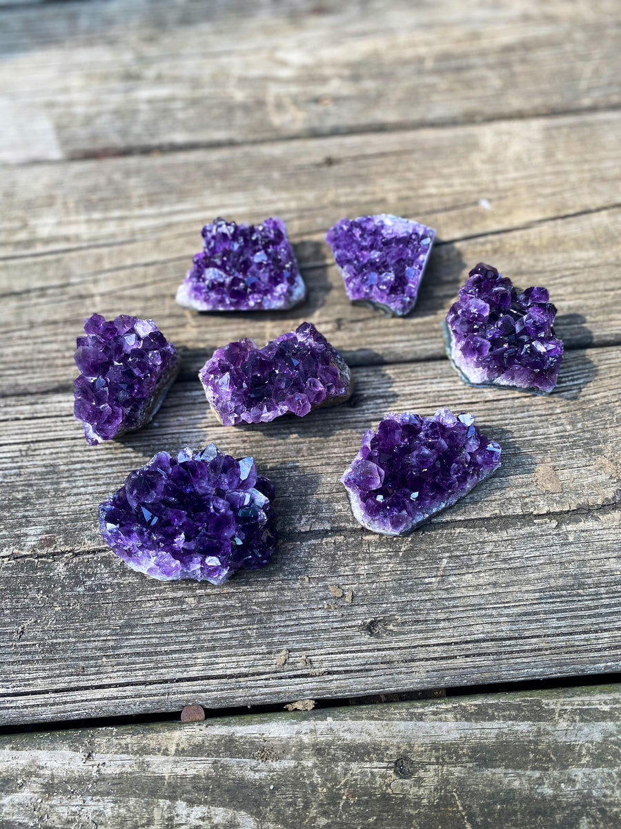 Extra Quality Druzy Amethyst Crystal Cluster / 2-3 inches across / Spiritual / Intuition / Calm and Relaxing Stone