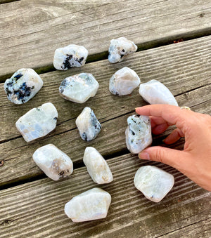 Rainbow Moonstone Polished freeform Stone with Luminescence Emotional Balance Hormonal Balance sacral chakra Goddess Energy Intuition