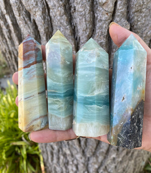 High Quality Amazonite Polished Tower Natural Stone - Emotional Balance, Expression, Calm and Inspiration