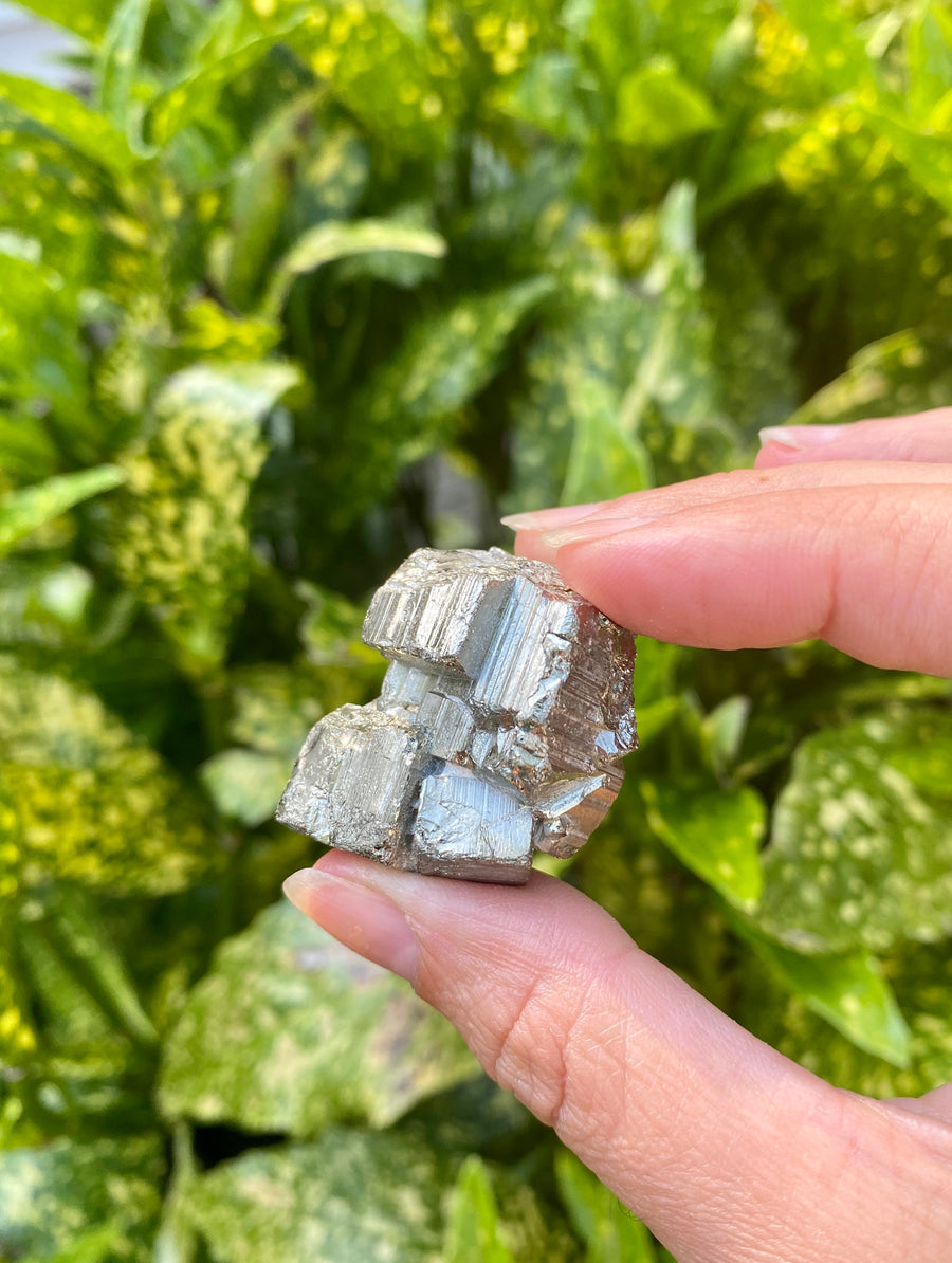 "Pyrite Cube Chunks 1"" wide / Fools Gold / Prosperity/ Warm Radiating Energy/ Protective Stone/ Crystal for Abundance"