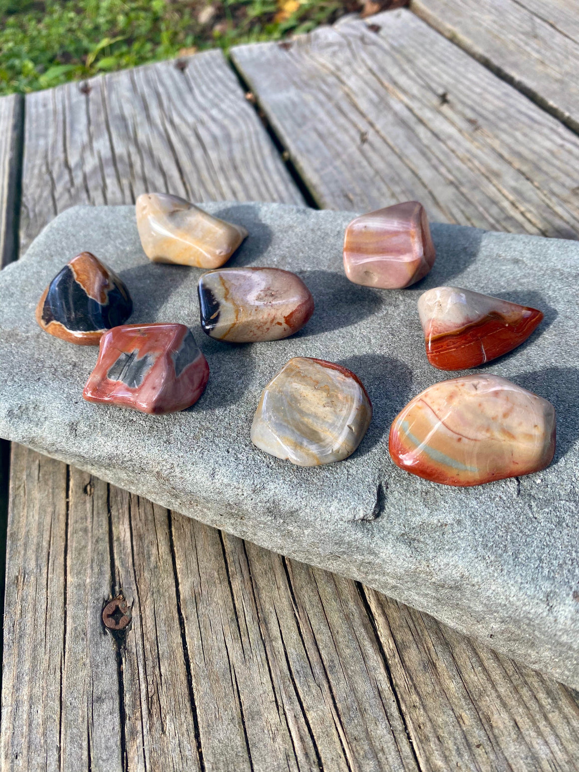 Desert Jasper Tumbled Stone / Natural Stone / Polychrome Jasper Crystal / Polished GemStone Supportive Nurturing Root Chakra Crystal