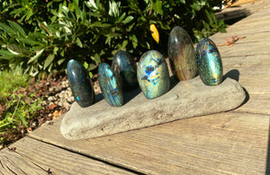 Small Flashy Free Standing High Quality Polished Labradorite Stone ~4-6 Ounces each