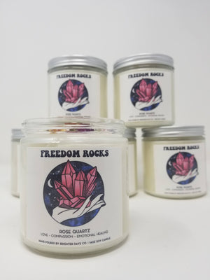 Freedom Rocks Candles // Citrine// Amethyst// Rose Quartz