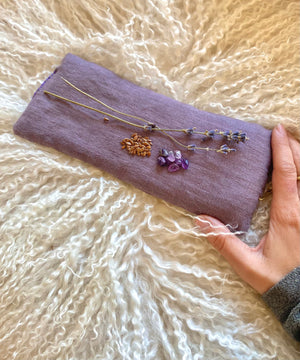 Ethically Sourced Linen Eye Pillows filled with Crystal Chips, Lavender Aromatherapy and Flax / Heat or Chill for Ultimate Relaxation
