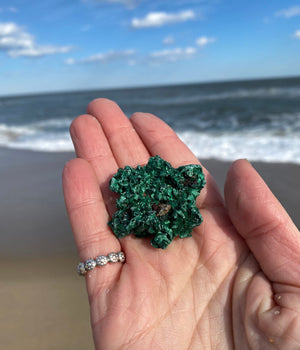 Natural Fibrous Malachite Free Form Crystal