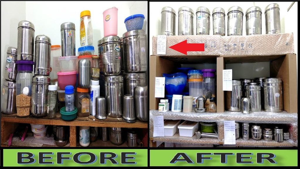 Kitchen Organization Ideas Kitchen Storage Ideas Kitchen Tips KITCHEN TOUR | SMALL INDIAN KITCHEN | ORGANIZE KITCHEN WITHOUT CABINETS ...