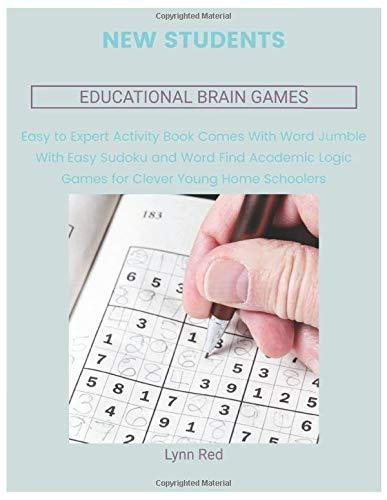 New Students Educational Brain Games: Easy to Expert Activity Book Comes With Word Jumble