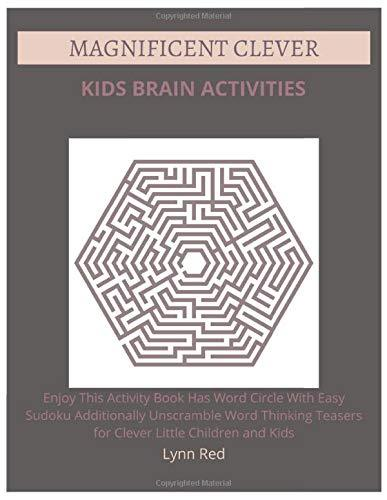 Magnificent Clever Kids Brain Activities: Enjoy This Activity Book Has Word Circle