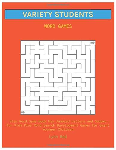 VARIETY STUDENTS WORD GAMES: Stem Word Game Book Has Jumbled Letters and Sudoku for Kids