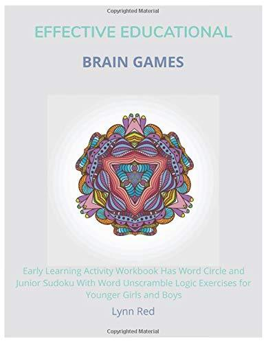 Effective Educational Brain Games: Early Learning Activity Workbook Has Word Circle and Junior