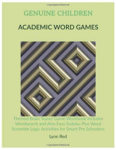 Genuine Children Academic Word Games: Themed Brain Teaser Game Workbook Includes Wordsearch