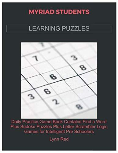 MYRIAD STUDENTS LEARNING PUZZLES: Daily Practice Game Book Contains Find a Word Plus Sudoku