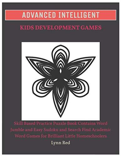 Advanced Intelligent Kids Development Games: Skill Based Practice Puzzle Book Contains Word