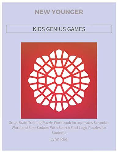 NEW YOUNGER KIDS GENIUS GAMES: Great Brain Training Puzzle Workbook Incorporates Scramble Word