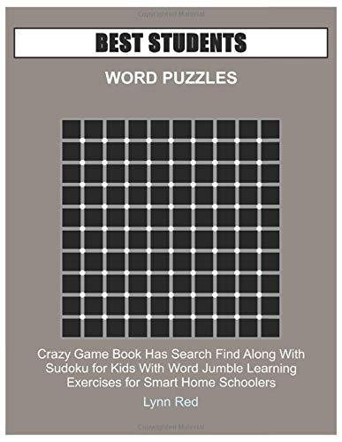 BEST STUDENTS WORD PUZZLES: Crazy Game Book Has Search Find Along With Sudoku for Kids With Word
